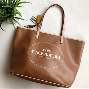 Coach Metro Horse Carriage Tote in Saddle